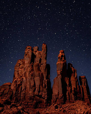 Photograph - Camel Butte Under The Night Sky by William Christiansen