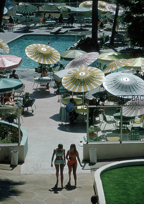 Walking Photograph - Camelback Inn by Slim Aarons