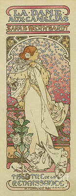 Drawing - Camille By Alphonse Mucha by Aapshop
