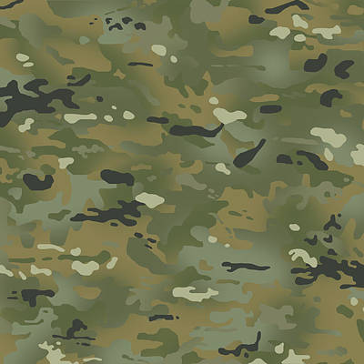 Popstar And Musician Paintings Royalty Free Images - Camouflage Jungle Colors II Royalty-Free Image by Jared Davies