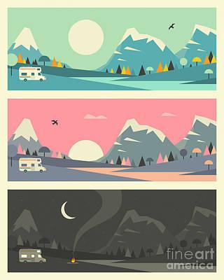 Sunset Digital Art - Campfire 2.1 by Jazzberry Blue
