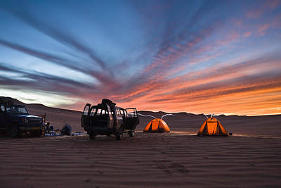 Photograph - Camping In The Libyan Desert, Libya by Konrad Wothe / Look-foto