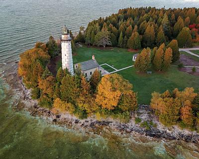 Photograph - Cana Island Lighthouse At Dawn by Adam Romanowicz