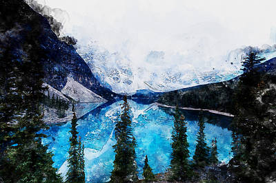 Painting - Canada, Alberta - 06 by Andrea Mazzocchetti