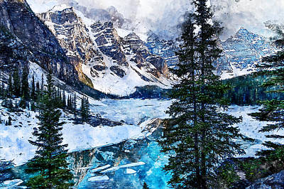 Painting - Canada, Alberta - 07 by Andrea Mazzocchetti