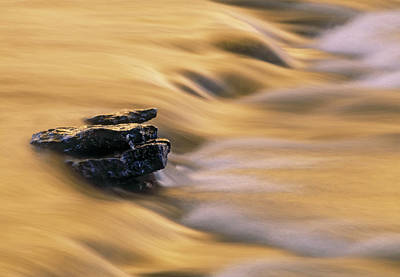 Photograph - Canada, Alberta, Flowing Water Over by Darwin Wiggett