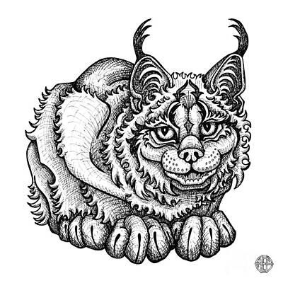 Drawing - Canada Lynx by Amy E Fraser