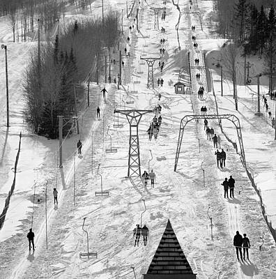 Photograph - Canada, Quebec, Quebec City, Ski Lift by Superstock
