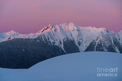 Royalty-Free and Rights-Managed Images - Canadian Border Peaks Alpenglow by Mike Reid