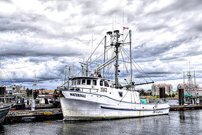 Photograph - Canadian Fishing Boat Waterfall by Floyd Snyder