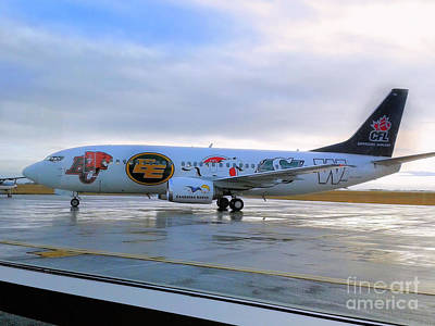 Photograph - Canadian Football League Official  Plane   by Elaine Manley