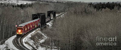 Photograph - Canadian Pacific Holiday Train 2018 I by Brad Allen Fine Art