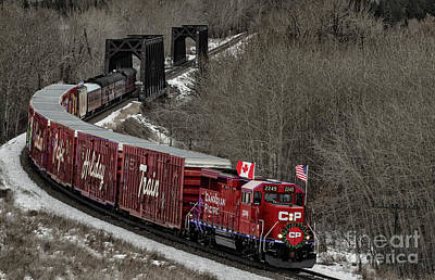 Photograph - Canadian Pacific Holiday Train 2018 II by Brad Allen Fine Art