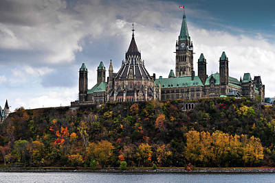 Canadian Parliament Buildings Art Print