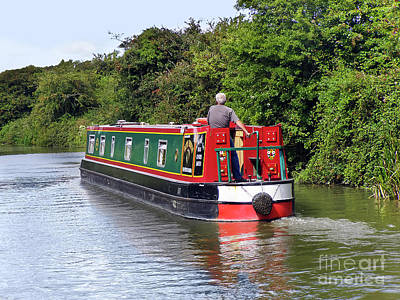 Photograph - Canal Boat by Terri Waters