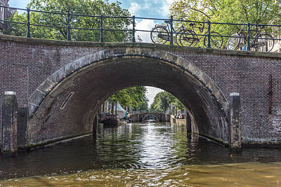 Photograph - Canal Bridges In Amsterdam by Jemmy Archer