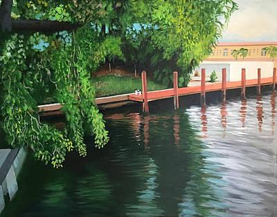 Painting - Canal Cat by Robert Korhonen