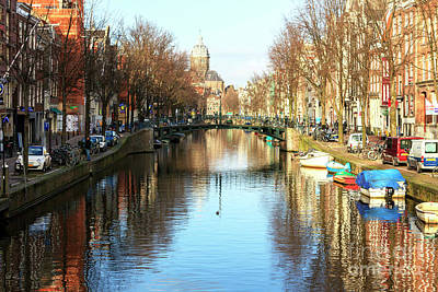 Photograph - Canal Colors Amsterdam by John Rizzuto