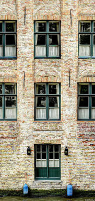 Photograph - Canal House In Bruges 2 by Weston Westmoreland