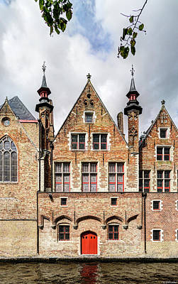 Photograph - Canal House In Bruges 3 by Weston Westmoreland