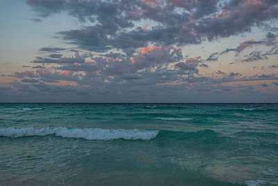 Photograph - Cancun Sunset Cancun Beach Mexico by Toby McGuire