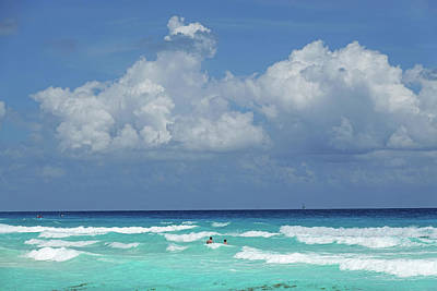 Photograph - Cancun Swimming In The Beautiful Blue Water Of Cancun Mexico by Toby McGuire