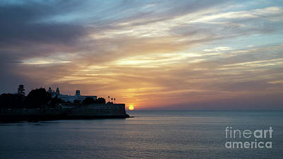 Photograph - Candelaria Bulwark At Sunset Cadiz Spain by Pablo Avanzini