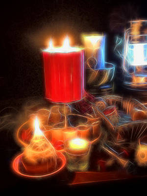Photograph - Candle Still Life by Cindy Boyd