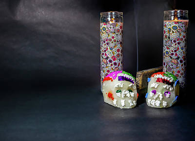 Photograph - Candles For The Day Of The Dead by Miriam Bade