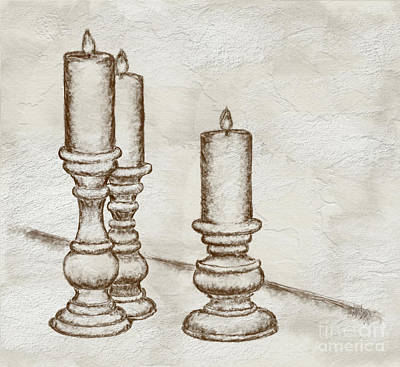 Digital Art - Candlesticks by Lois Bryan