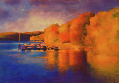 Pastel - Candlewood Fall by Jeff Gettis