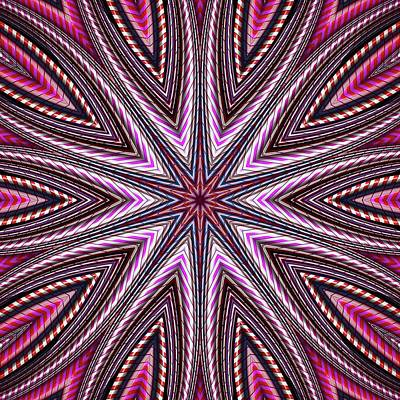 Digital Art - Candy Cane Kaleidoscope by Cindy Boyd
