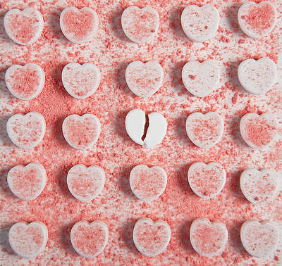 Photograph - Candy Hearts by Mskaveneyphotography