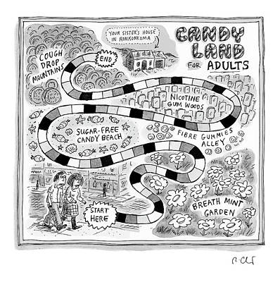Drawing - Candy Land For Adults by Roz Chast