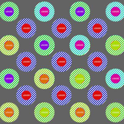 Digital Art - Candy Stripe by Ubabe Style