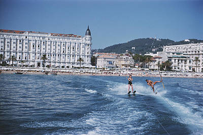 Full Length Photograph - Cannes Watersports by Slim Aarons