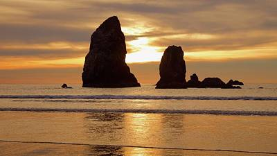 Cannon Beach November Sunset Art Print