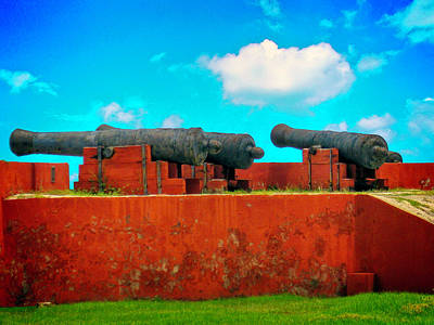 Photograph - Cannons Of Fort Frederik, St. Croix, Usvi by Max Huber