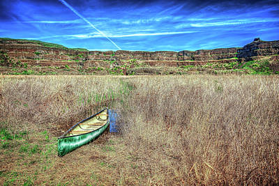 Photograph - Canoe At Dry Falls by Spencer McDonald