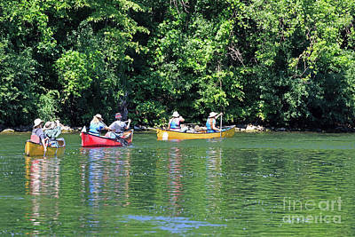 Photograph - Canoeing On The Rideau Canal In Newboro Channel Ontario Canada by Louise Heusinkveld
