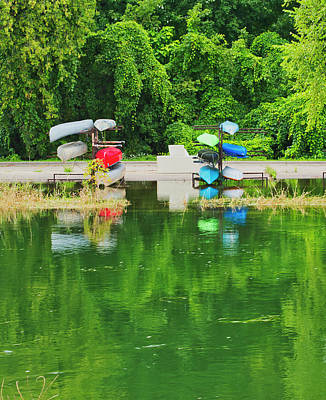 Photograph - Canoes - Yahara River - Madison by Steven Ralser
