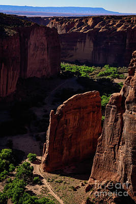 Water Droplets Sharon Johnstone - Canyon de Chelly Valley Floor by Dwain Patton