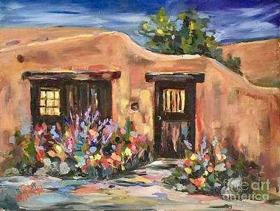 Painting - Canyon Road Casa by Patsy Walton