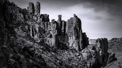 Photograph - Canyon Spires In Black And White  by Saija Lehtonen