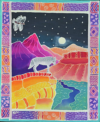 Night Hawk Wall Art - Painting - Canyon Wolf by Harriet Peck Taylor