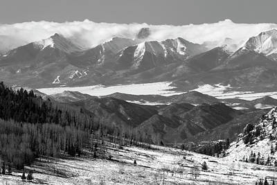 Photograph - Cap Cloud On Sangre De Cristo by Steve Krull