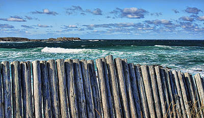 Photograph - Cape Bonavista Coastline Fence 2 by Tatiana Travelways