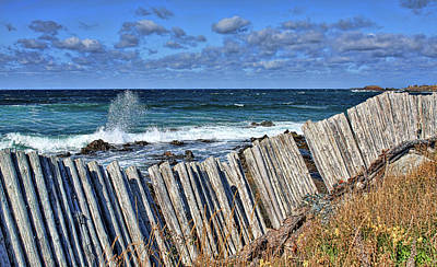 Photograph - Cape Bonavista Coastline Fence 3 by Tatiana Travelways