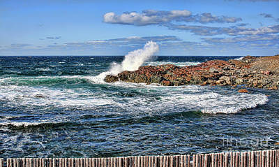 Photograph - Cape Bonavista Coastline Fence 6 by Tatiana Travelways