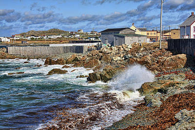 Photograph - Cape Bonavista Coastline Fence by Tatiana Travelways